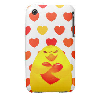 Sweet chick in love iPhone 3 Case-Mate cases