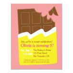 Sweet Chocolate Bar Candy Birthday Party Custom Invites