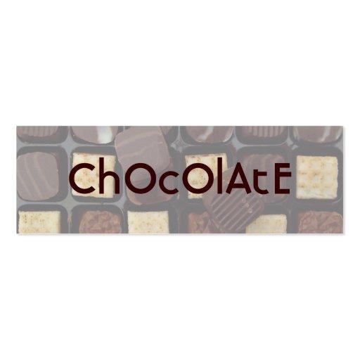sweet chocolate business card