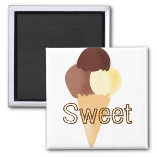 Sweet Chocolate Dessert Peace Love Party Destiny Square Magnet