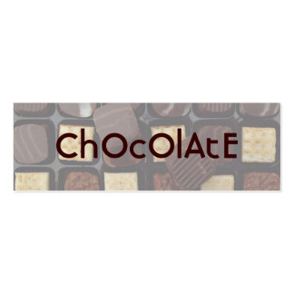 sweet chocolate pack of skinny business cards
