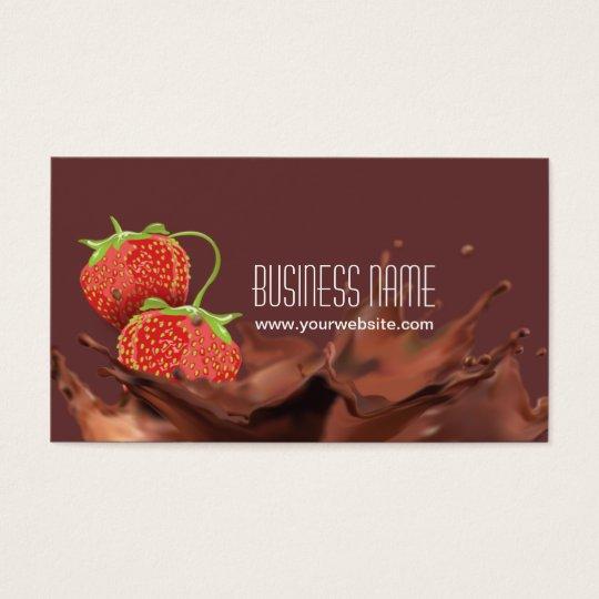 Sweet Chocolate & strawberries Business Card