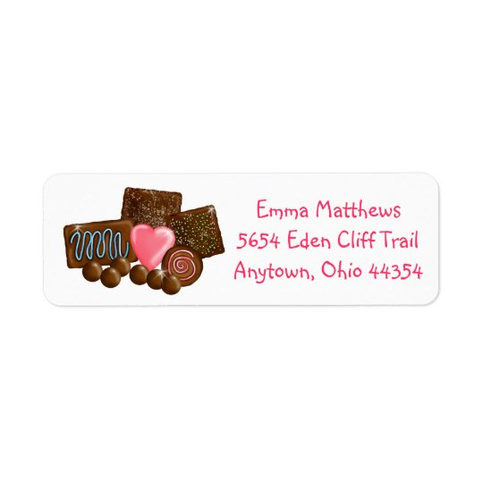 Sweet Chocolates Return Address Labels