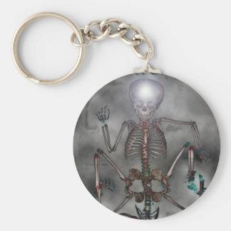 Sweet Chops Skeleton Basic Round Button Key Ring