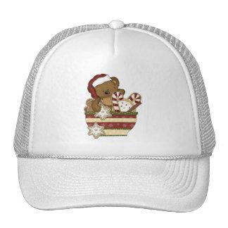 Sweet Christmas Bear Trucker Hats
