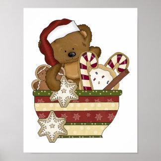 Sweet Christmas Bear Poster