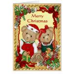 Sweet Christmas Bears - Verse Inside Greeting Card