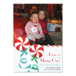Sweet Christmas Candy Photo Card Personalised Invite
