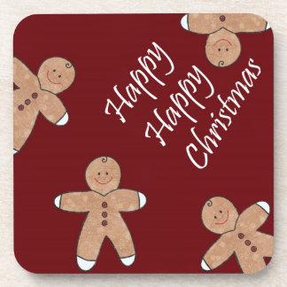 Sweet Christmas Gingerbread Cookies Beverage Coaster