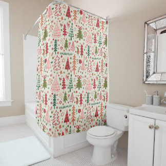 Sweet Christmas Pattern Shower Curtain