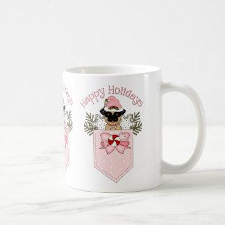 Sweet Christmas Pug Pocket Tees and Gifts Coffee Mug
