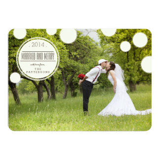 Sweet Circles Married & Merry Holiday Photo Card Announcements