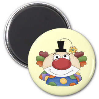 Sweet Clown Face 6 Cm Round Magnet