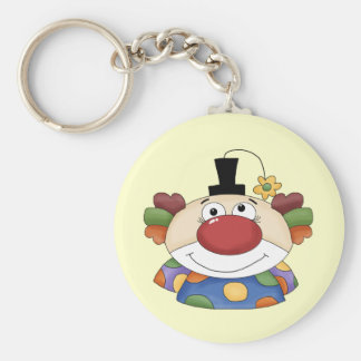 Sweet Clown Face Key Ring
