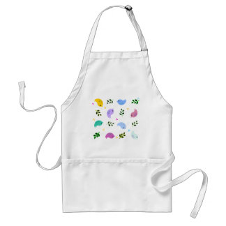 Sweet Colorful Birds Pattern Adult Apron