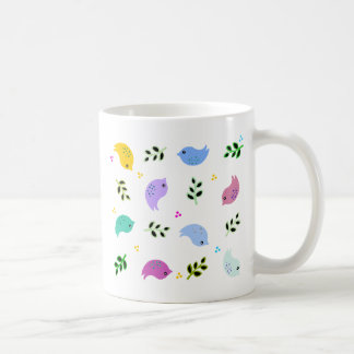 Sweet Colorful Birds Pattern Coffee Mug