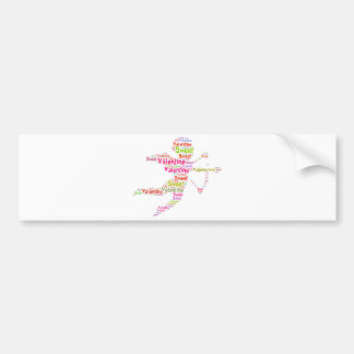 Sweet Colorful Valentine Cupid Bumper Sticker
