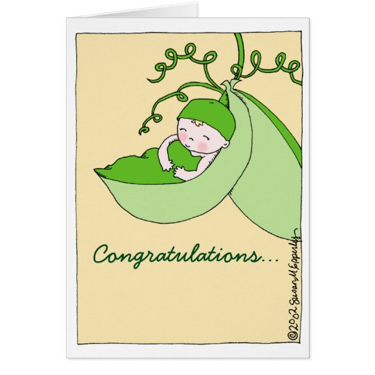 Sweet Congratulations on Pregnancy Baby Shower Card