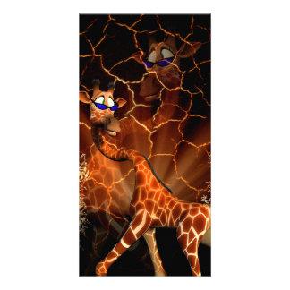 Sweet, cool giraffe picture card