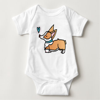 SWEET CORGI KISSES. BABY BODYSUIT
