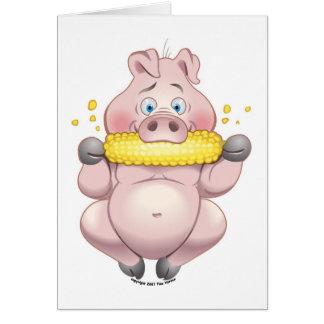 Sweet corn BBQ pink Piggy Card