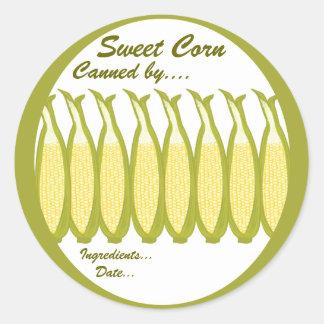 Sweet Corn Preserves Label Round Sticker