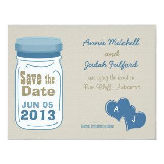 Sweet Country Mason Jar Save the Date 11 Cm X 14 Cm Invitation Card