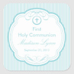 Sweet Cross In Frame First Holy Communion Square Sticker