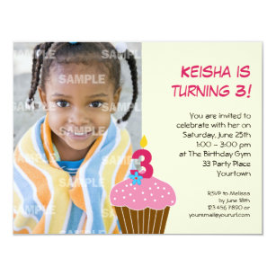 3 Year Old Birthday Invitations