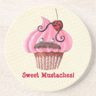 Sweet Cupcake and Mustaches Coaster