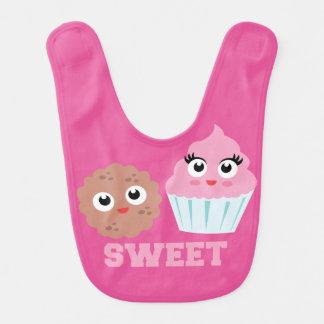 Sweet Cupcake Cookie Cute Baby Bib