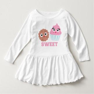 Sweet Cupcake Cookie Cute Baby Ruffle Dress