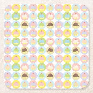 Sweet Cupcake Pattern Paper Coasters Square Paper Coaster
