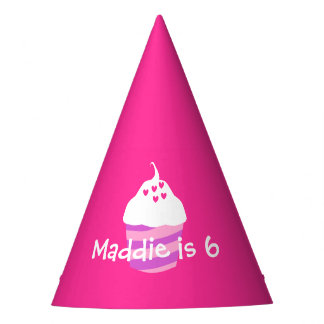 Sweet cupcake pink birthday party hat