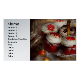 Sweet - Cupcake - Red velvet cupcakes Business Card Template