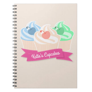 Sweet Cupcake Trio Notebooks