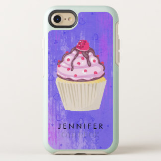 Sweet Cupcake with Raspberry on Top OtterBox Symmetry iPhone 8/7 Case