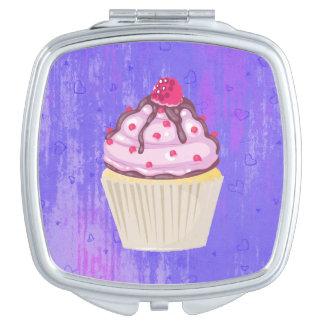 Sweet Cupcake with Raspberry on Top Vanity Mirror