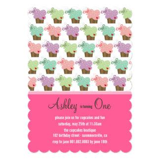 Sweet Cupcakes Butterflies Whimsical Girl Birthday 13 Cm X 18 Cm Invitation Card