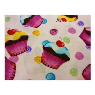 sweet cupcakes postcard