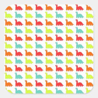 Sweet Cute color Dinosaur Square Sticker