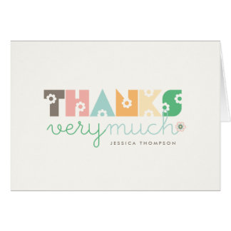 Sweet Cute Daisy Blooms Baby Shower Thank You Card