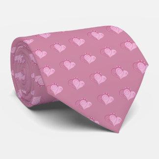 Sweet Cute Happy Valentine Love Hearts Soft Pink Tie