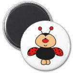 sweet cute ladybug 6 cm round magnet