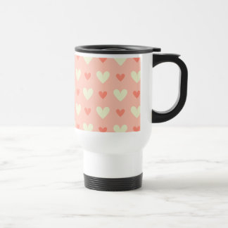 Sweet Cute Love Hearts Seamless Pattern Stainless Steel Travel Mug