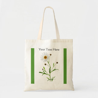Sweet Daisy on the Green Tote Bag