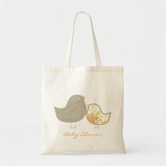 Sweet Damask Chicks Baby Shower Custom Tote Bag