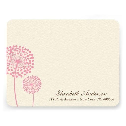 Sweet Dandelions Custom Flat Note Cards Custom Invite