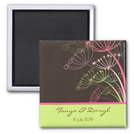 Sweet Dandelions Save Date / Favours / Gift / TQ Square Magnet