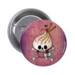 Sweet & Deadly  Skull Cupcake 6 Cm Round Badge